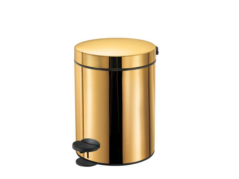 Gold toilet brush european gold plated toilet brush for Gold bathroom bin